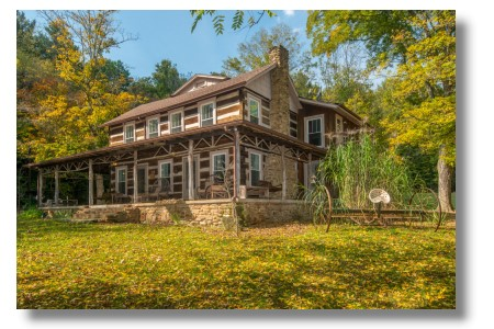 Brown county indiana rental log cabin for Wooden nickel cabins